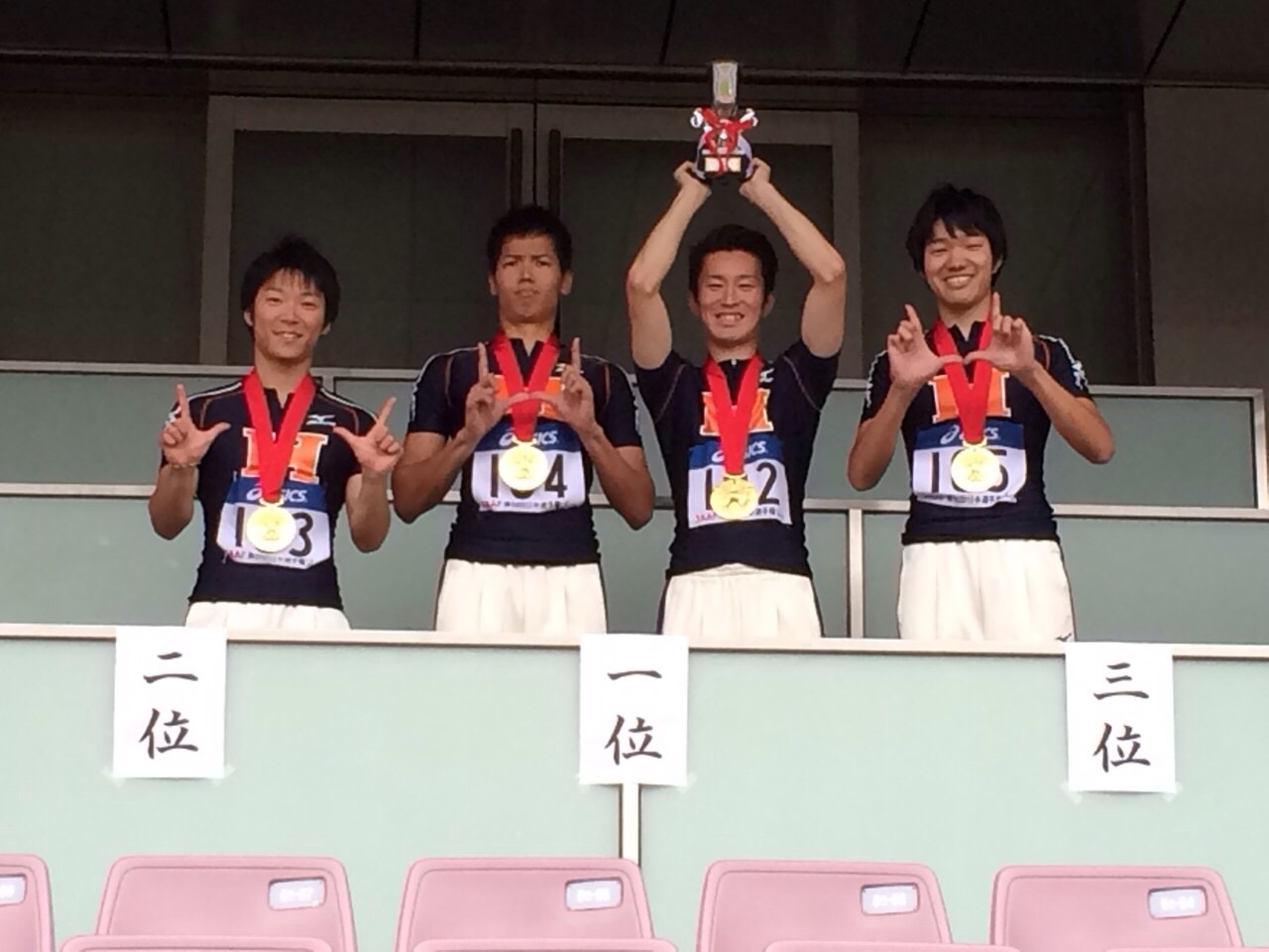 第98回日本陸上競技選手権リレー競技大会の結果 男子4×100m優勝