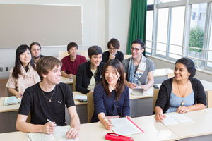 2 Creating a global campus with the expansion of the University's international student and exchange student programs
