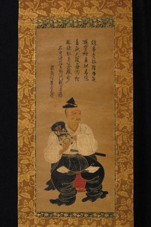 鮮やかな色彩の現存最古の能役者肖像画『宮増弥左衛門親賢画像』