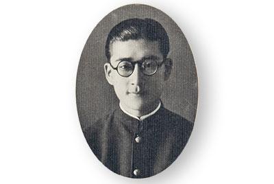 1936年経済学部卒業アルバムの渋谷忠三。後輩によれば「極めて温厚な稀に見る紳士」だった
