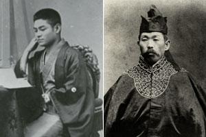 左:伊藤修(1855~1920)、設立時は25歳 右: 金丸鉄(1852~1909)設立時は28歳